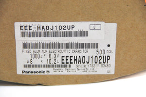 Panasonic EEEHA0J102UP Fixed Aluminum Electrolytic Capacitor NEW (2988)