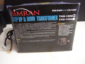 Simran THG-1000 Step Down Voltage Transformer 1000 Watts (828)