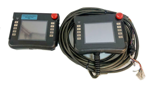 Omron NSH5-SQR10B-V2 Interactive Display Handheld Terminal Lot of 2 (7667) W