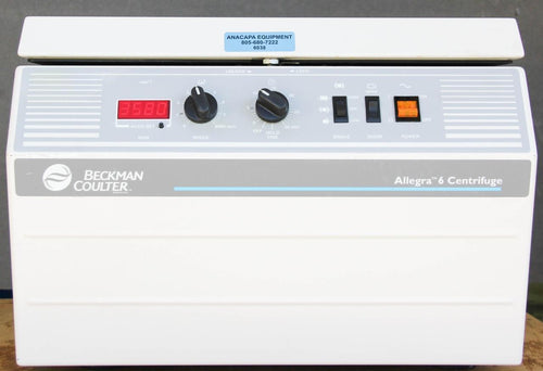 Beckman Coulter Bench-Top Centrifuge Allegra 6 Non-Refrigerated & Rotor (6038)