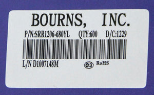 Bourns Inc SRR1206-680YL Shielded High Power Inductor NEW LOT (2987)