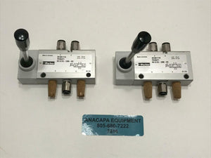 Parker 2818A1110 Pneumatic 5/2 Directional Control Valves LOT OF 2 USED (7816) R