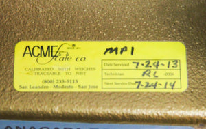 Acme Scale 25 KG Grip Handle Calibration Weight NIST Class (6274)
