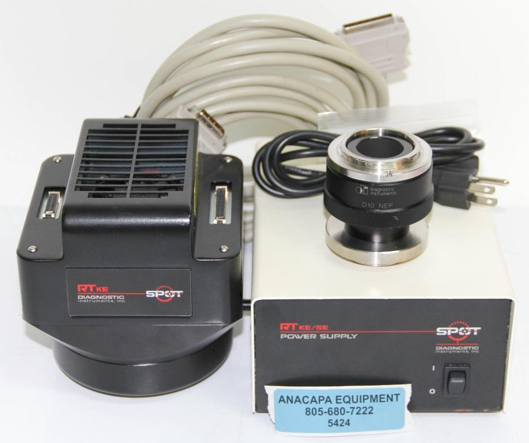 Diagnostic Instruments Spot 7.4 RT KE Camera D10NEF Mount and Power Supply (5424