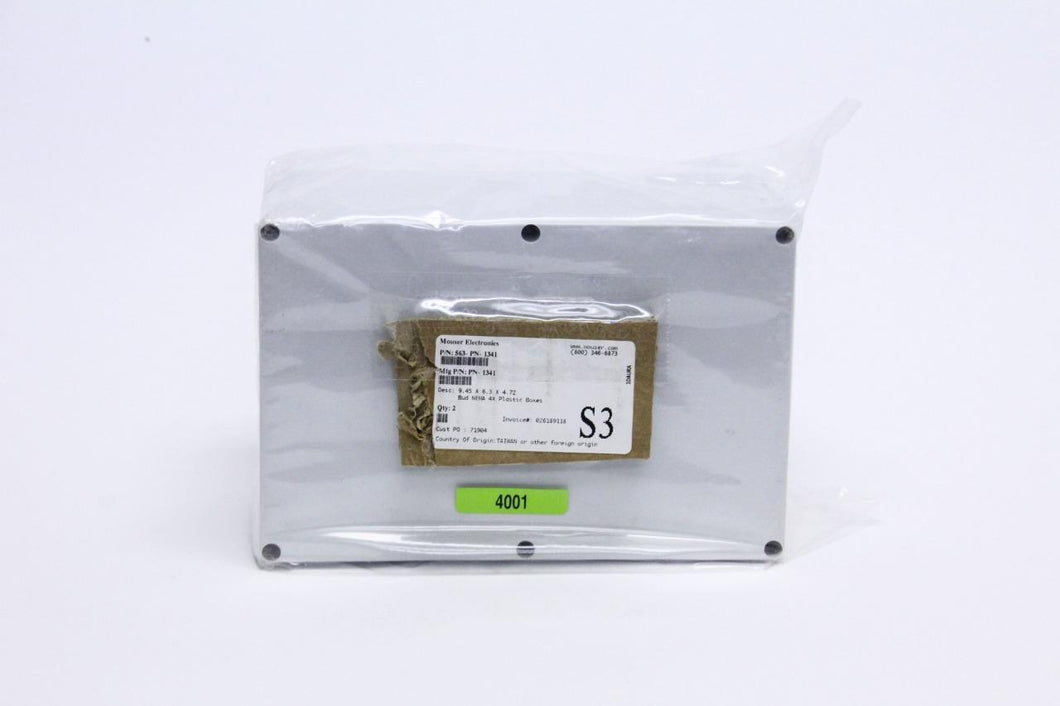 Bud Industries PN-1341 9.45 x 6.3 x 4.72 Polycarbonate Box (4001)