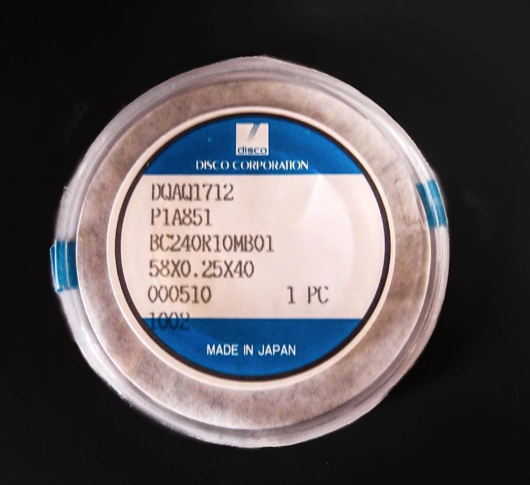 Disco Diamond Blade P1A851, 58X0.25X40  BC24OR10MB01 NEW, (3630)