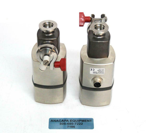 Pfeiffer Vacuum EVR 116 Gas Regulating Valve Motorized 24V LOT OF 2 (7186) R