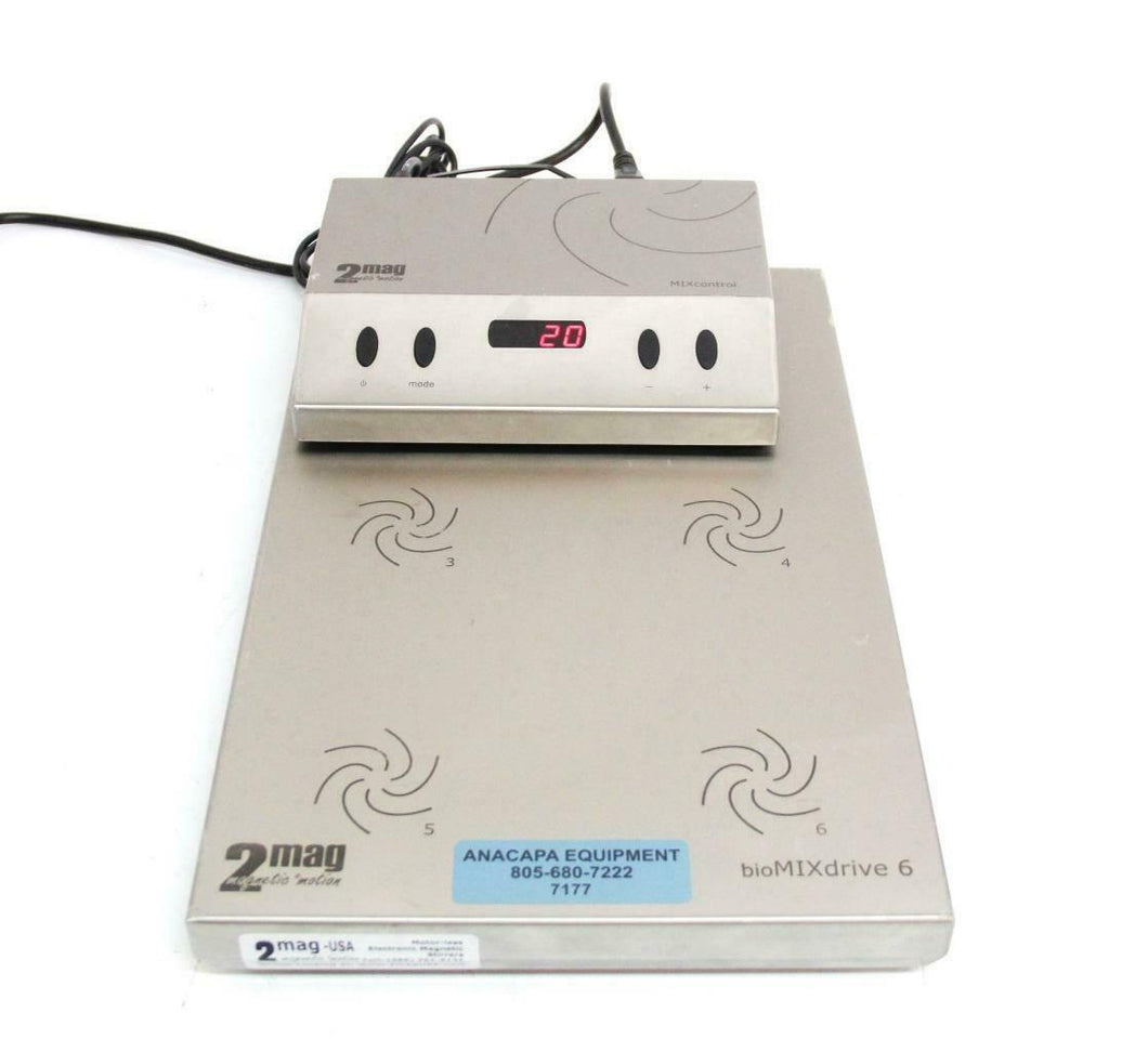 2mag-USA MF60400 BioMixDrive 6 Electronic Magnetic Stirrers w/ Controller (7177)