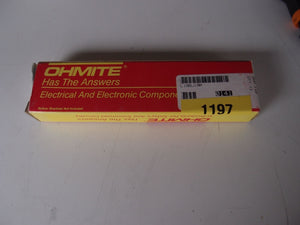 Ohmite 100W 10 Ohm  Vitreous Enameled Lug Resistor L100J10 New 1 Lot of 4 (1197)