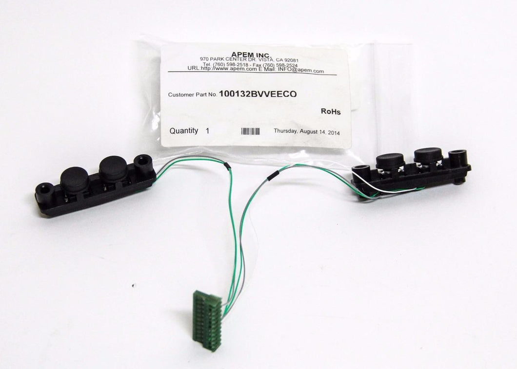 APEM INC. Button Switch Strip 100-132BV Input Device 2 Button Strip (5348)