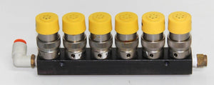 Clippard ET-3M-12 VDC Mouse Valve X6 w/ Manifold & Wire Attachments (4456)
