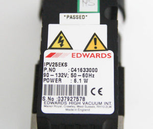 Edwards IPV25EKS C4163300 High Vacuum Valve 6.1W 90-132V 1 ph 50/60Hz SS 6100