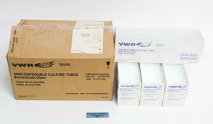 VWR 47729-570 Glass Culture Tubes 5mL 12 x 75mm Durex Borosilicate NEW LOT (NMBR