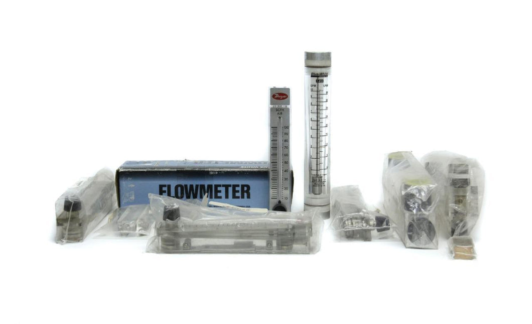 Dwyer VFC-141 RMB RMA, Blue-White F410, King Flowmeters Lot of 10 Misc (5169)