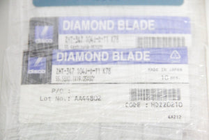 Disco Diamond Blade ZHT-347 104J-D-T1 K78 LOT of 20 NEW (5953)