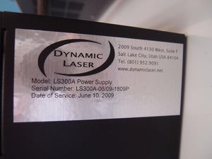 Dynamic Laser LS Series LS300A Power Supply and LS300K Laser Head (1791)