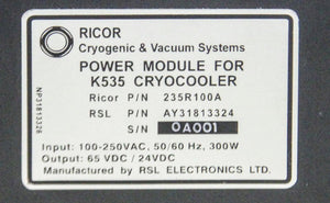 Ricor Power Module & K535 Driver Temperature Controller (1305)