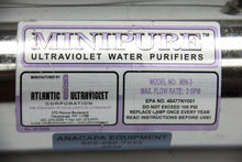 Atlantic Ultraviolet MIN-3 Minipure Ultraviolet 25-0293 Water Purifier (4038)