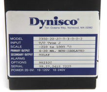 Dynisco 2300 20-JC-8-3-0-0-2 PLC Temperature Controller -210 to 1000º C  (4357)