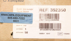 Corning Falcon 352350 Cell Strainer 70 μm NEW LOT of 50 (6031)