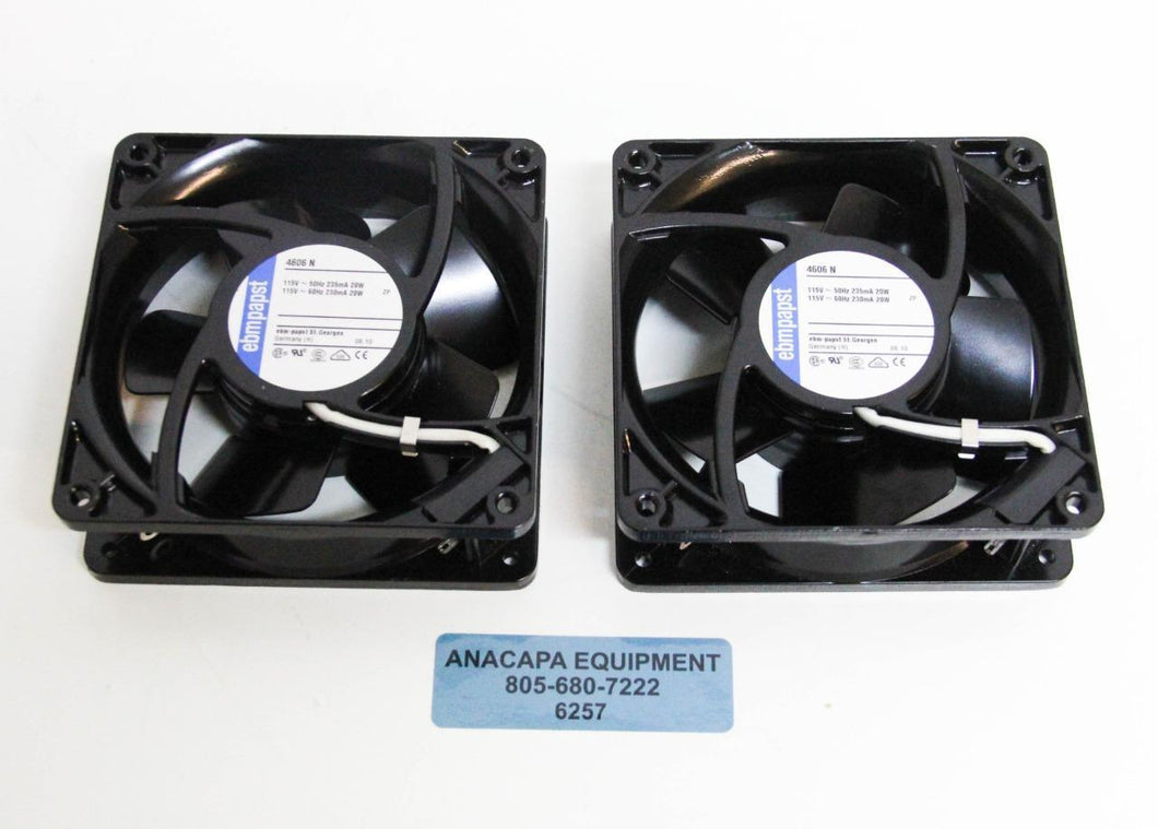 Ebmpapst Axial Flow Colling Fan 4606 N 115V 2650RPM NEW LOT OF 2 (6257)