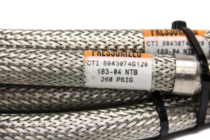 CTI Cryogenics 8043074 G120 183/04 NTB SS Hose 260 PSI 10 Foot Lot 2 (2929T)