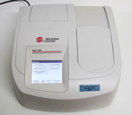 Beckman Coulter DU 720 UV/Visible Spectrophotometer 700 Series LOW LAMP HRS 6584