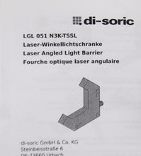 Di Soric LGL 051 N3K-TSSL Laser Angled Light Barrier NEW (4093)