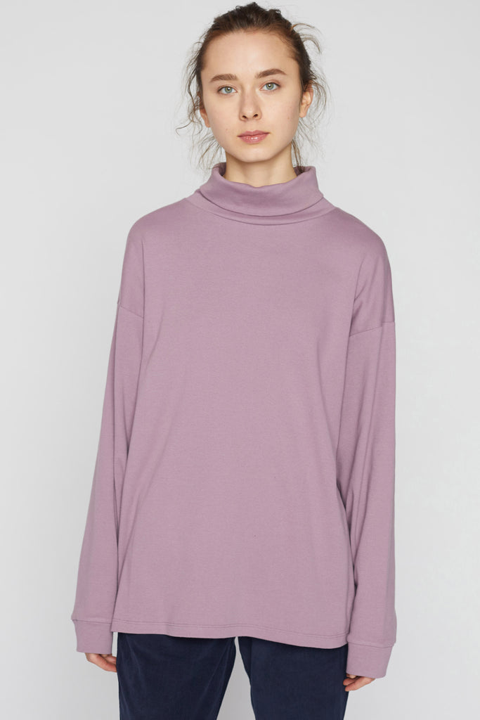 Boxy Jersey Turtleneck