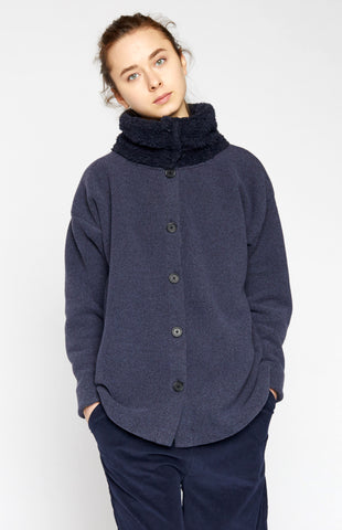 High-neck Fleece Jacket