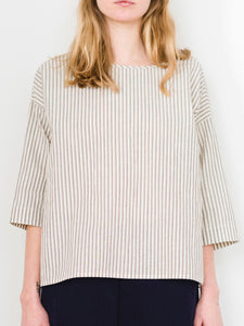 Penny Top - Cream Stripe