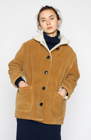 Textured Fleece-lined Jacket