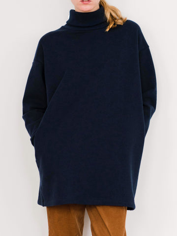 Long Turtleneck Sweatshirt
