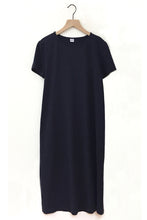 Load image into Gallery viewer, Cotton Linen Tee Dress - Navy