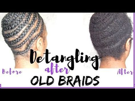 How to take down old cornrows with minimum damage