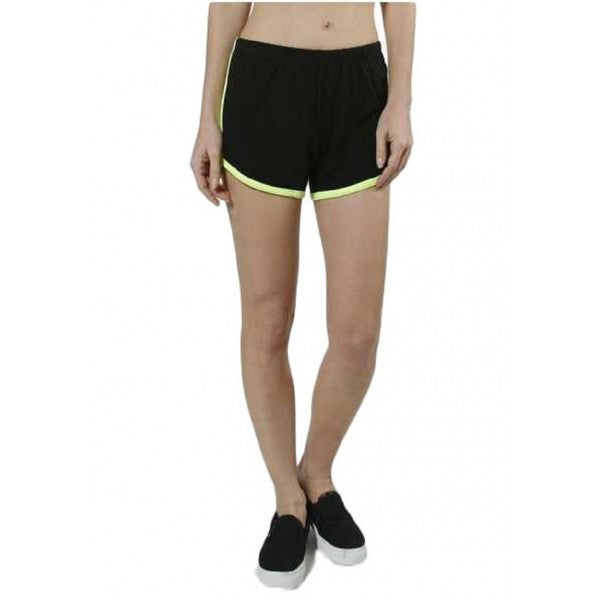 Neon Lined Color Contrast Athletic Workout Short Shorts Active Wear Summer Gym R