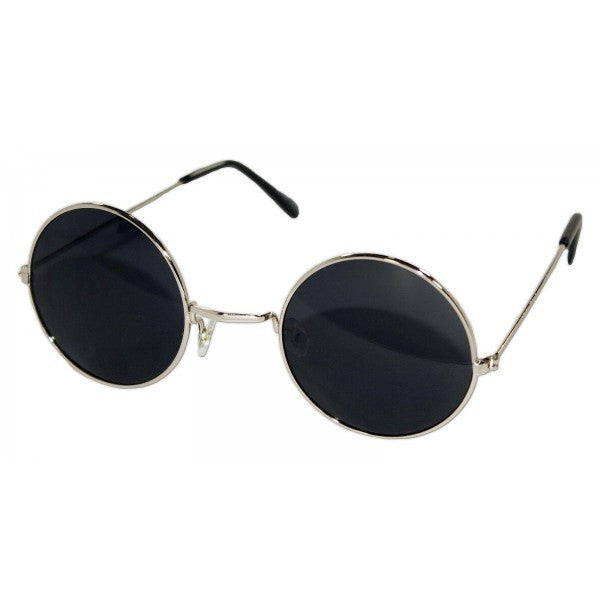 John Lennon Silver Frame with Black Lens - Neon Nation