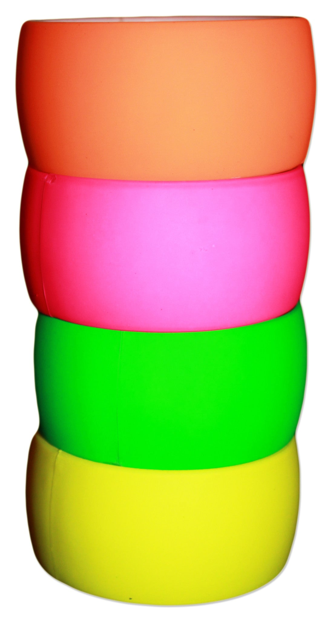 "Neon Nation 4 Pack 80s Costume Bracelets 1"" Soft Bangles - Neon Nation"