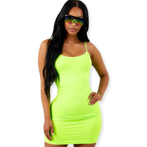 5ebd597e6bcb Neon Bodycon Mini Dress w/ Spaghetti Straps. $ 16.99. Neon Multi Colored Cheetah  Animal Print Tube ...