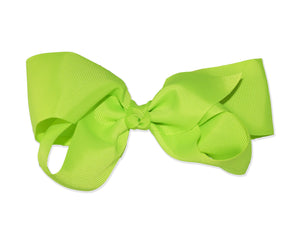 Large Neon Jumbo Hair Bow w/ Aligator Clip 80s Style Costume - Neon Nation