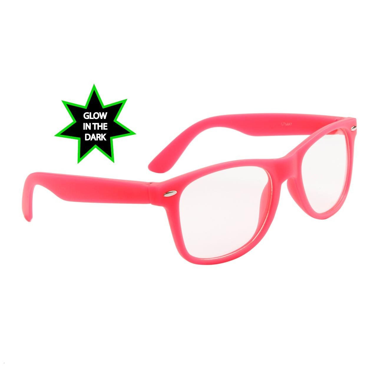 baccdad25a Neon Glow In The Dark Frame Glasses w  Clear Lens – Neon Nation
