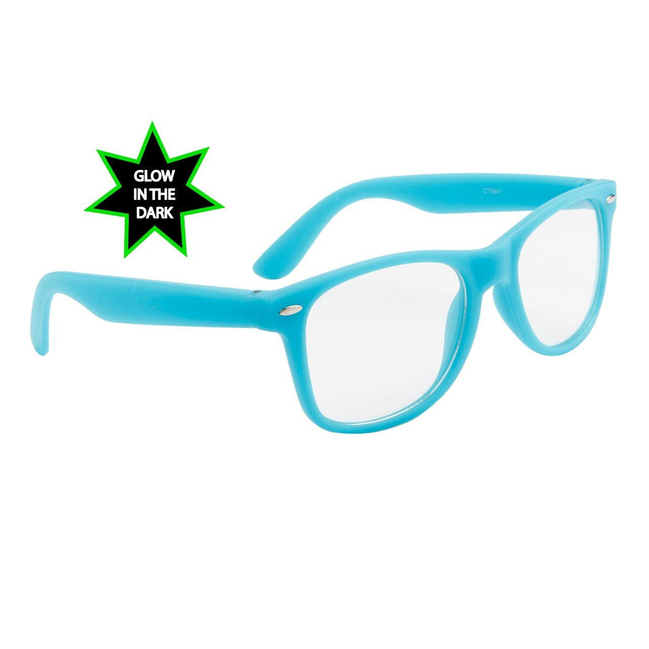 Neon Glow In The Dark Frame Glasses w/ Clear Lens – Neon Nation