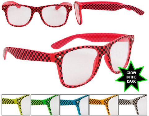 Unisex Large Wrap Around Sunglasses w/ Neon Colored Wire Frame