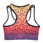 Load image into Gallery viewer, Neon Gradient Animal Leopard Print Racerback Crop Top