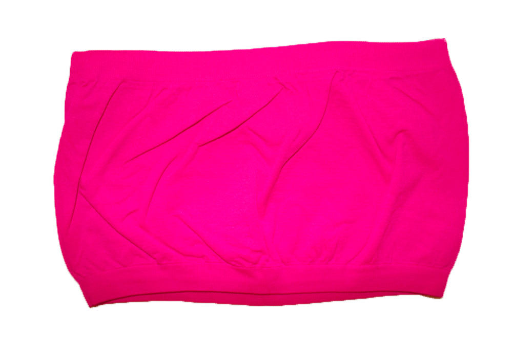 Sexy Seamless Bandeau Cropped Tube Top Strapless Spandex Tank T-Shirt - Neon Nation