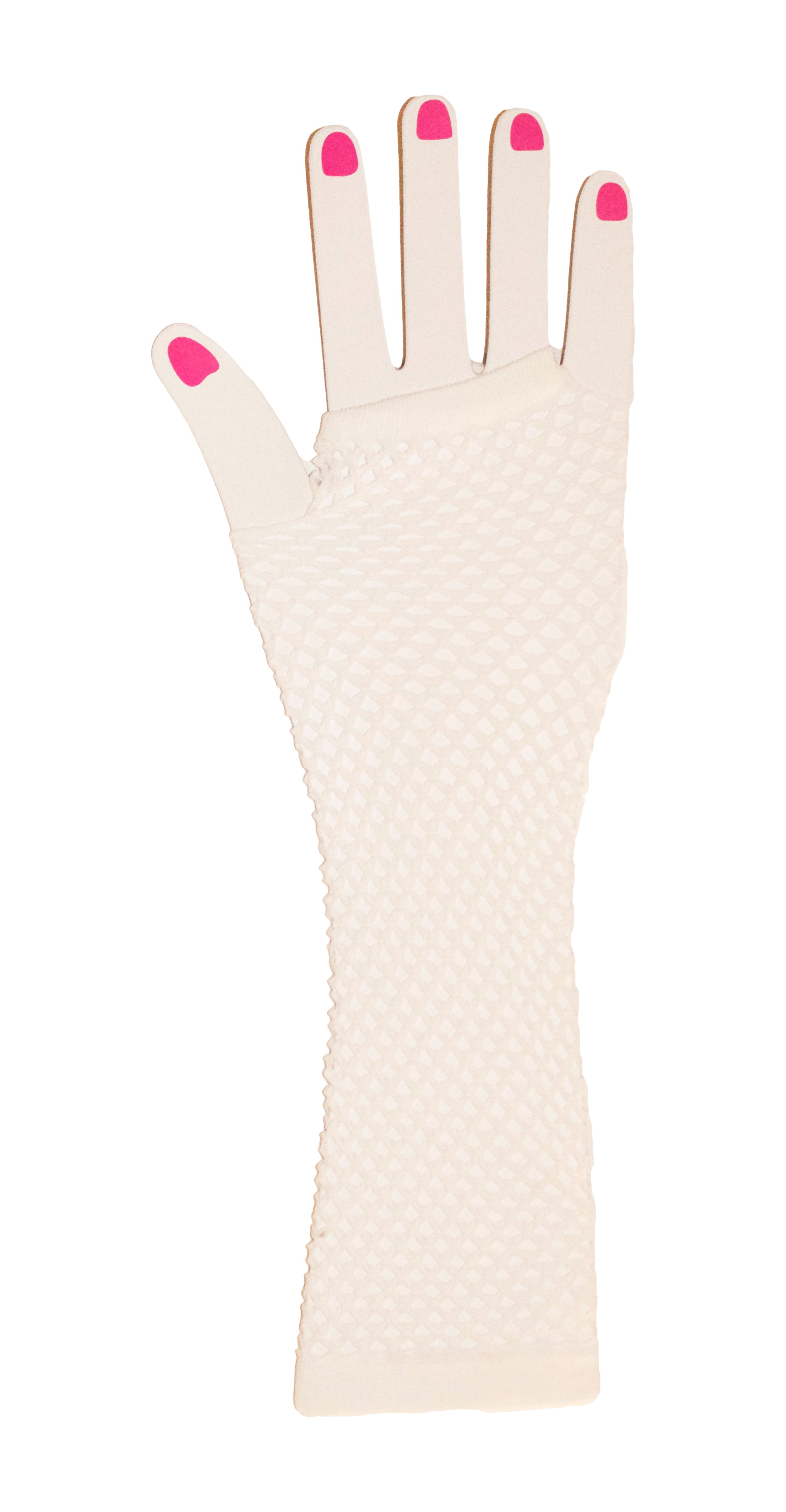 Neon Fish Net Long Arm Sleeve Glove Trendy Fashion Punk Style