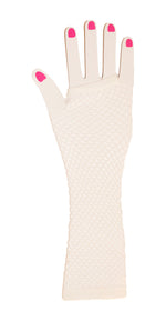 Load image into Gallery viewer, Neon Fish Net Long Arm Sleeve Glove Trendy Fashion Punk Style