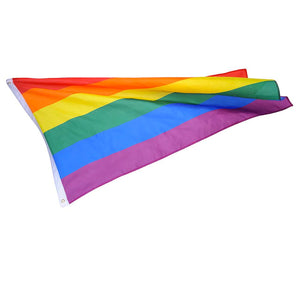 Large 3 x 5 Foot Rainbow Striped Outdoor Gay Pride LGBTQ Flag UV Fade Resistant