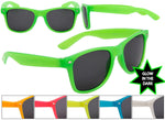 Load image into Gallery viewer, Glow in the Dark Frame Wayfarer Sunglasses w/ Dark Lens