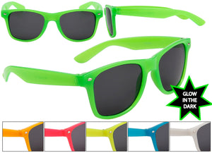 Glow in the Dark Frame Wayfarer Sunglasses w/ Dark Lens